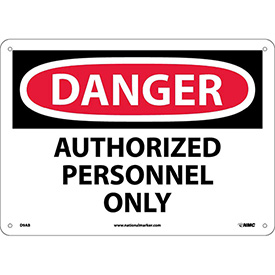 Safety Signs - Danger Authorized Personnel Only - Aluminum
