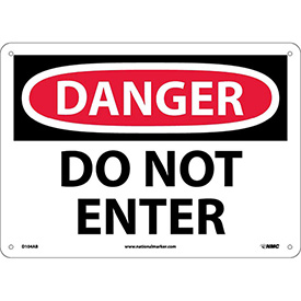 Safety Signs - Danger Do Not Enter - Aluminum