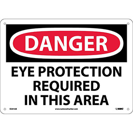Safety Signs Danger Eye Protection Aluminum by