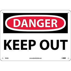 Safety Signs Danger Keep Out Aluminum by