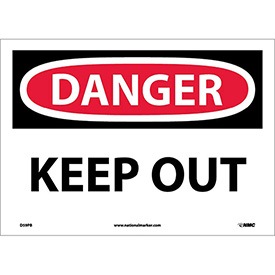 """Safety Signs - Danger Keep Out - Vinyl 10""""H X 14""""W"""