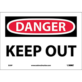 "Safety Signs - Danger Keep Out - Vinyl 7""H X 10""W"