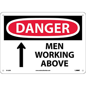Safety Signs - Danger Men Working Above - Fiberglass