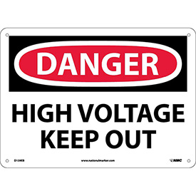 Safety Signs - Danger High Voltage Keep Out - Fiberglass