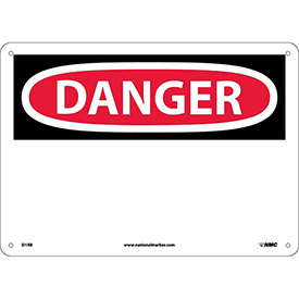 "Safety Signs - Danger - Rigid Plastic 10""H X 14""W"