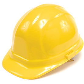 ERB™ 19952 Omega II Hard Hat, 6-Point Ratchet Suspension, Yellow