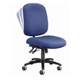 OFM Big and Tall Armless Swivel Task Chair, Fabric, Mid Back, Navy