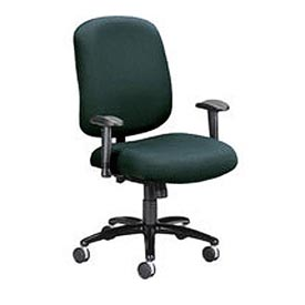 OFM Big and Tall Swivel Task Chair with Arms, Fabric, Mid Back, Black