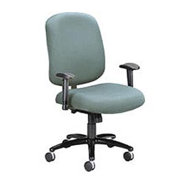 OFM Big and Tall Office Chair with Arms - Fabric - Mid Back - Gray