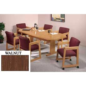 8-Sided 42x96 Table Walnut Finish