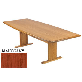 Conference Table 96 Inch Boat Shaped Mahogany Finish