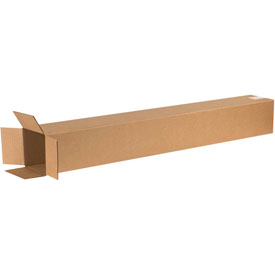 "Cardboard Corrugated Box 6"" x 6"" x 48"" 200lb. Test/ECT-32 - 25 Pack"