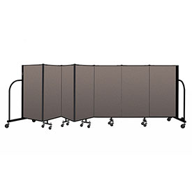 "Screenflex Portable Room Divider 7 Panel, 4'H x 13'1""L, Fabric Color: Oatmeal"