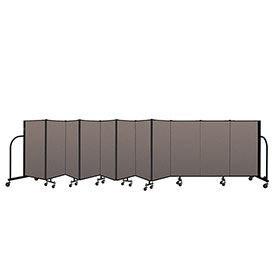 "Screenflex Portable Room Divider 11 Panel, 4'H x 20'5""L, Fabric Color: Oatmeal"