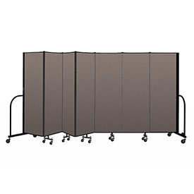 "Screenflex Portable Room Divider 7 Panel, 6'H x 13'1""L, Fabric Color: Oatmeal"