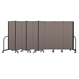 "Screenflex Portable Room Divider 9 Panel, 6'H x 16'9""L, Fabric Color: Oatmeal"