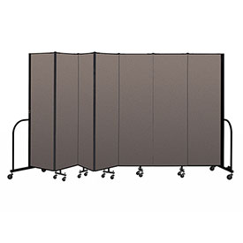 "Screenflex Portable Room Divider 7 Panel, 6'8""H x 13'1""L, Fabric Color: Oatmeal"