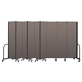 "Screenflex Portable Room Divider 9 Panel, 7'4""H x 16'9""L, Fabric Color: Oatmeal"