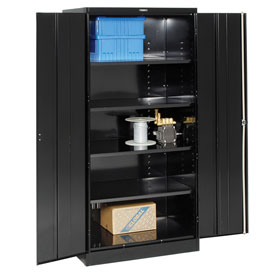 Tennsco Industrial Storage Cabinet 2470 03 - 36x24x78 Black