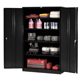 Global™ Storage Cabinet Easy Assembly 48x24x78 Black