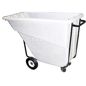 Bayhead Products White Medium Duty 5/8 Cubic Yard Tilt Truck 1000 Lb. Capacity
