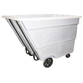 Bayhead Products White Medium Duty 2.2 Cubic Yard Tilt Truck 2200 Lb. Capacity