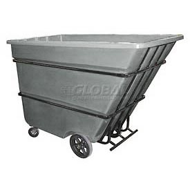 Bayhead Products Gray Heavy Duty 1.7 Cubic Yard Tilt Truck 2200 Lb. Capacity