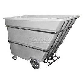 Bayhead Products White Heavy Duty 1.7 Cubic Yard Tilt Truck 2200 Lb. Capacity