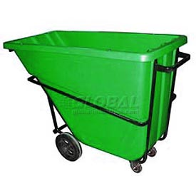 Bayhead Products Green Heavy Duty 5/8 Cubic Yard Tilt Truck 1500 Lb. Capacity