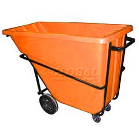 Bayhead Products Orange Heavy Duty 5/8 Cubic Yard Tilt Truck 1500 Lb. Capacity