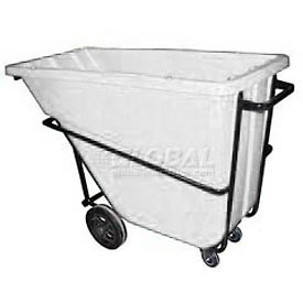 Bayhead Products White Heavy Duty 5/8 Cubic Yard Tilt Truck 1500 Lb. Capacity