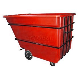 Bayhead Products Red Heavy Duty 2.2 Cubic Yard Tilt Truck 2500 Lb. Capacity