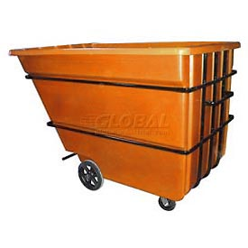 Bayhead Products Orange Heavy Duty 2.2 Cubic Yard Tilt Truck 2500 Lb. Capacity
