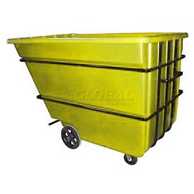 Bayhead Products Yellow Heavy Duty 2.2 Cubic Yard Tilt Truck 2500 Lb. Capacity
