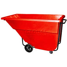 Bayhead Products Red Medium Duty 1.1 Cubic Yard Tilt Truck 1200 Lb. Capacity