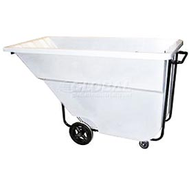 Bayhead Products White Medium Duty 1.1 Cubic Yard Tilt Truck 1200 Lb. Capacity