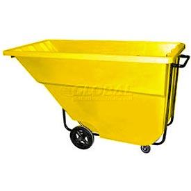 Bayhead Products Yellow Medium Duty 1.1 Cubic Yard Tilt Truck 1200 Lb. Capacity