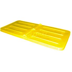 Yellow Lid for Bayhead Products 1.1 Cubic Yard Tilt Truck
