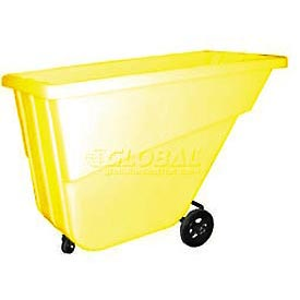 Bayhead Products Yellow Light Duty 5/8 Cubic Yard Tilt Truck 300 Lb. Capacity