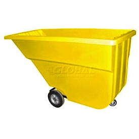Bayhead Products Yellow Light Duty 1.1 Cubic Yard Tilt Truck 600 Lb. Capacity