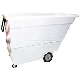 Bayhead Products White Light Duty 1.7 Cubic Yard Tilt Truck 1000 Lb. Capacity