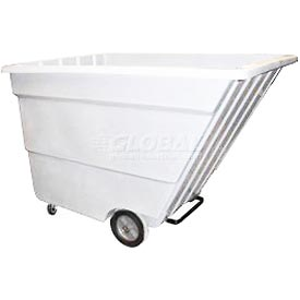 Bayhead Products White Light Duty 2.2 Cubic Yard Tilt Truck 1200 Lb. Capacity