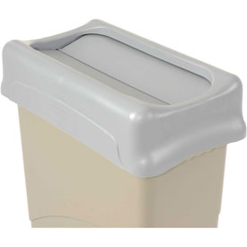 Lid For 16-23 Gallon Rectangular Rubbermaid Waste Receptacles - Gray