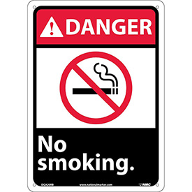"Graphic Signs - Danger No Smoking - Plastic 10""W X 14""H"