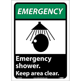 "Graphic Signs - Emergency Shower - Vinyl 10""W X 14""H"