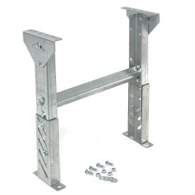"""Leg Support 18"""" to 24""""H for Omni Metalcraft 36"""" Between Frame Width Ball Transfer Table"""