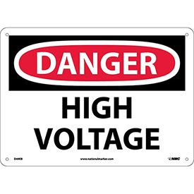 Safety Signs Danger High Voltage Fiberglass by