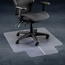 "Aleco® Office Chair Mat for Carpet - 36""W x 48""L  with 20"" x 10"" Lip - Straight Edge"