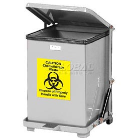 Rubbermaid® QST40RB Defenders® Fire Safe Silent Step On Stainless Steel Trash Can, 40 Gal.