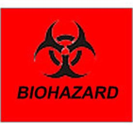 Trash Can Label - Bio Hazard